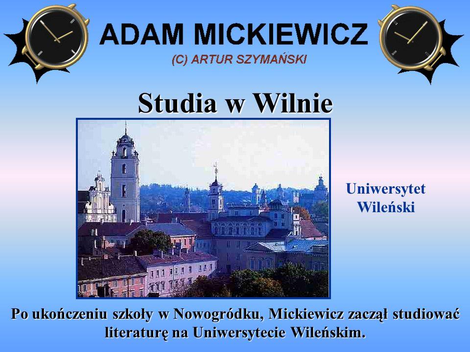 Studia w Wilnie Uniwersytet Wileński