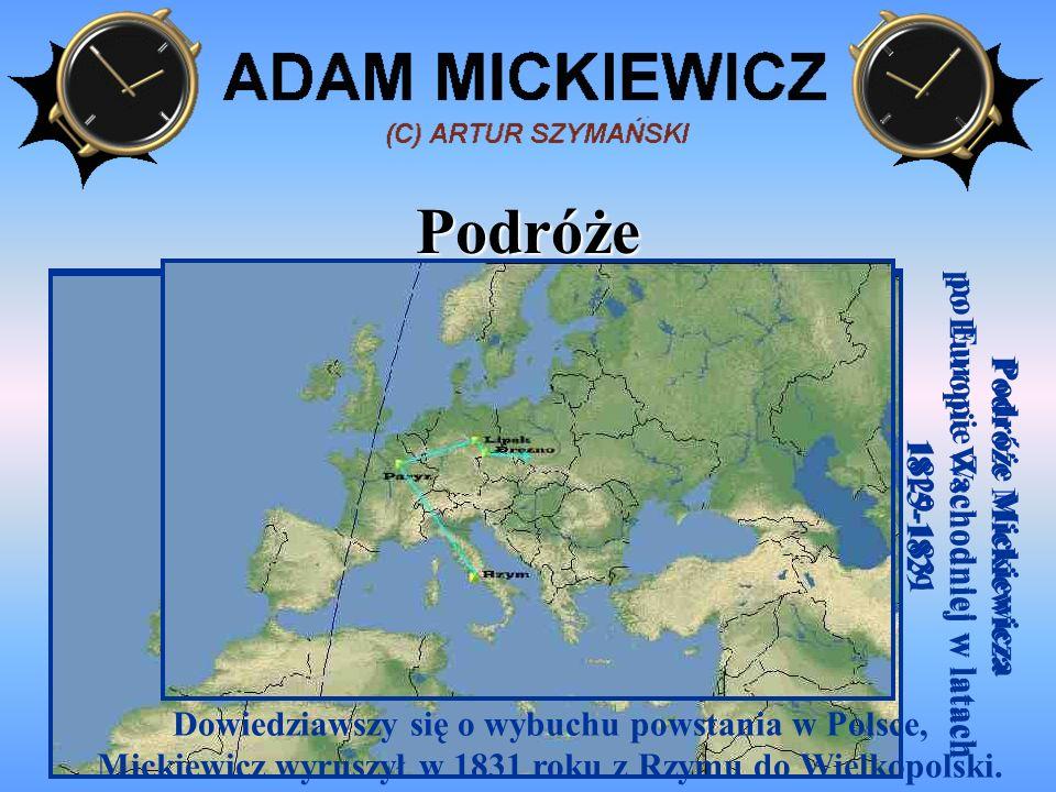 Podróże Podróże Mickiewicza po Europie Wschodniej w latach 1815-1829