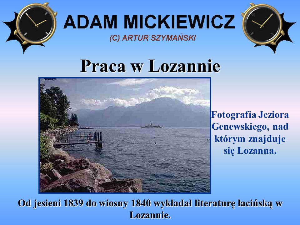 Fotografia Jeziora Genewskiego, nad którym znajduje się Lozanna.