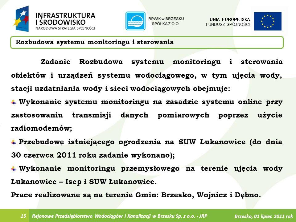 Prace realizowane są na terenie Gmin: Brzesko, Wojnicz i Dębno.