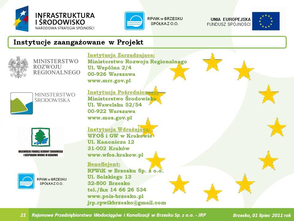 Instytucje zaangażowane w Projekt