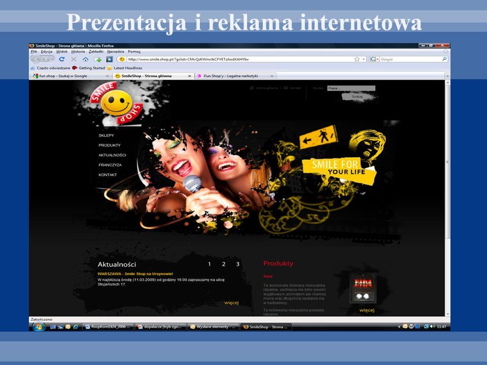 Prezentacja i reklama internetowa