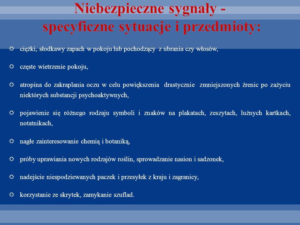 Niebezpieczne sygnały - specyficzne sytuacje i przedmioty: