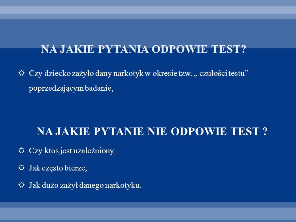 NA JAKIE PYTANIA ODPOWIE TEST