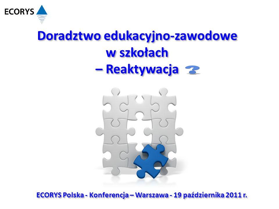 Doradztwo edukacyjno-zawodowe w szkołach – Reaktywacja