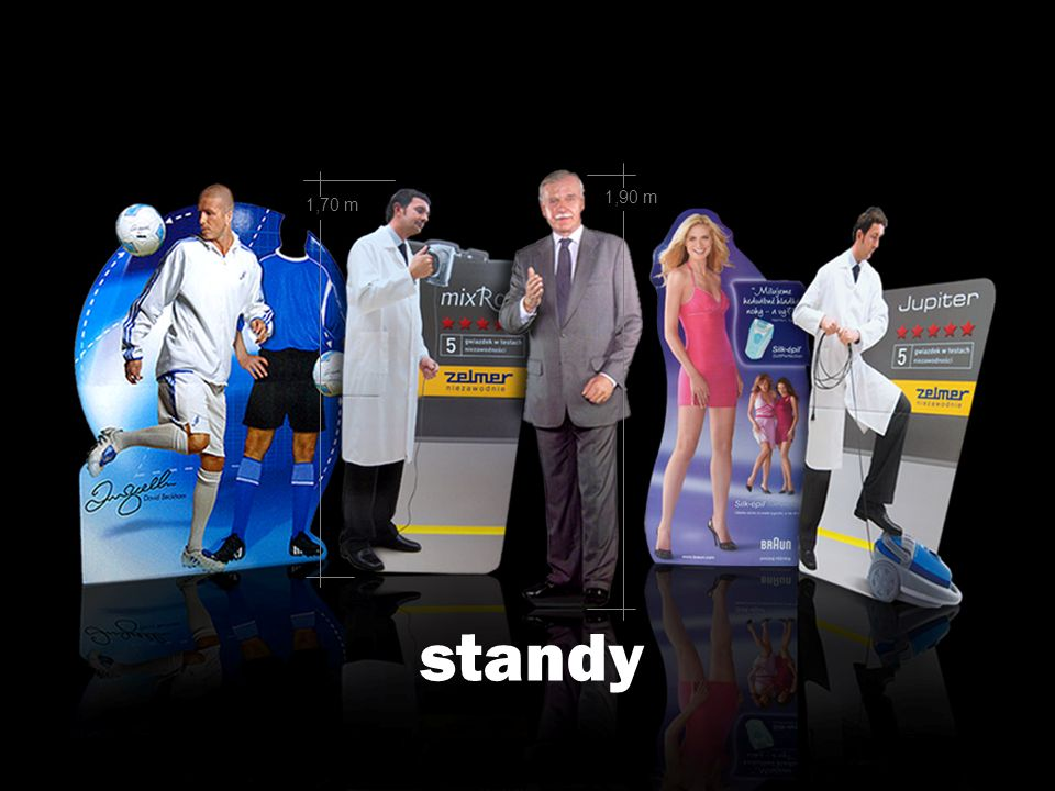 1,90 m 1,70 m standy