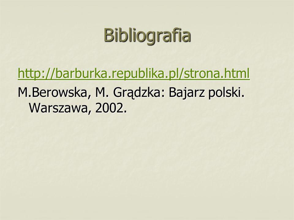 Bibliografia http://barburka.republika.pl/strona.html