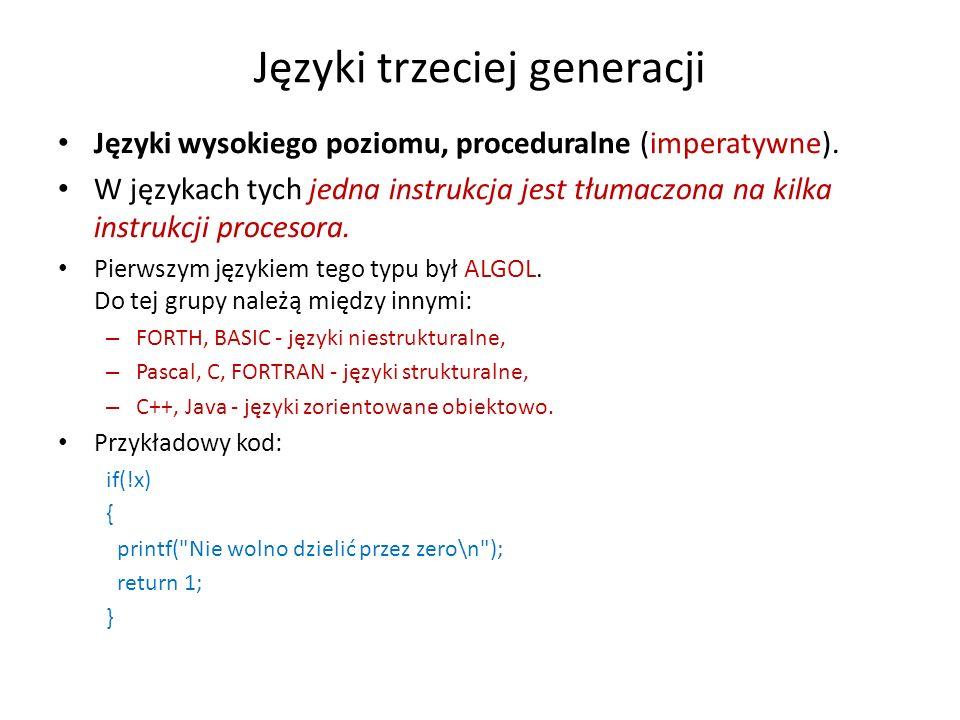 Języki trzeciej generacji