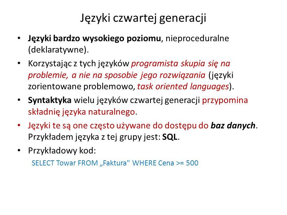 Języki czwartej generacji