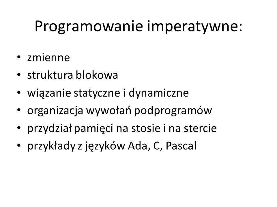 Programowanie imperatywne: