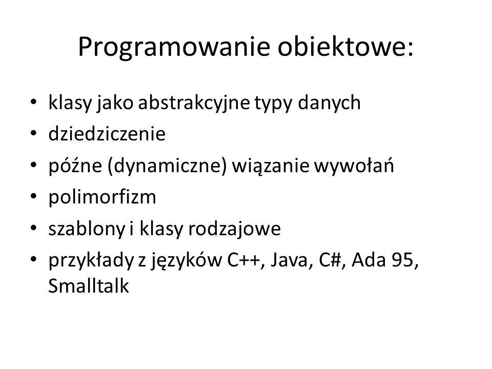 Programowanie obiektowe: