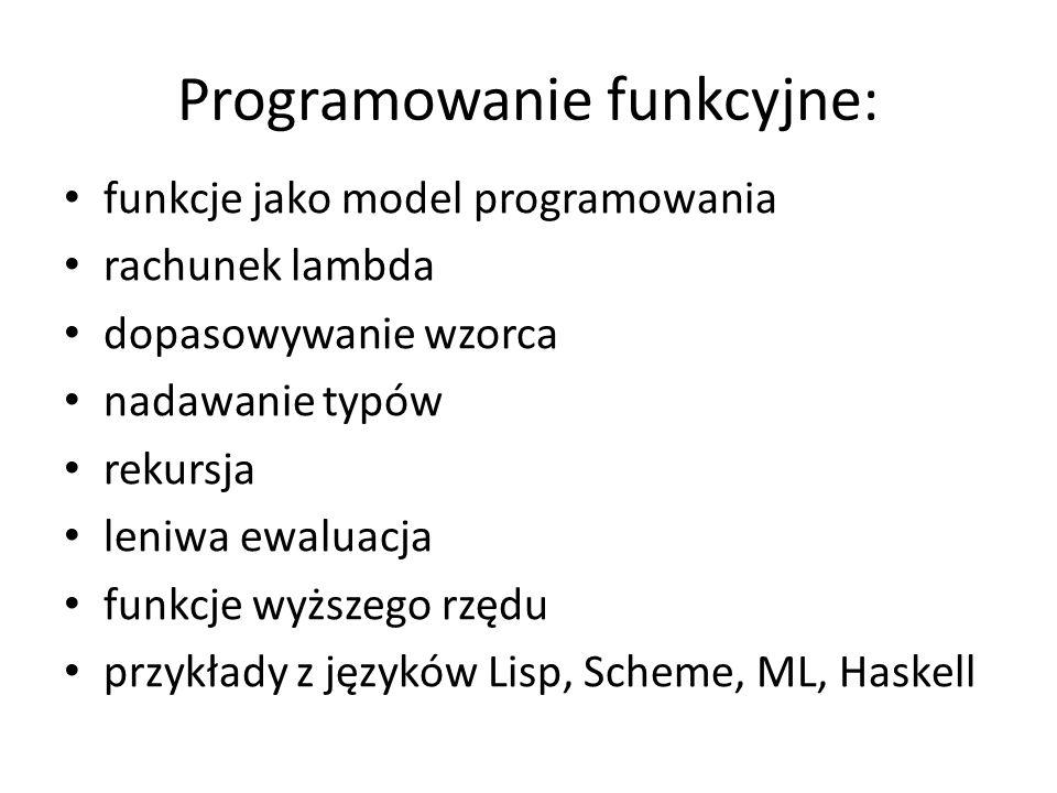 Programowanie funkcyjne: