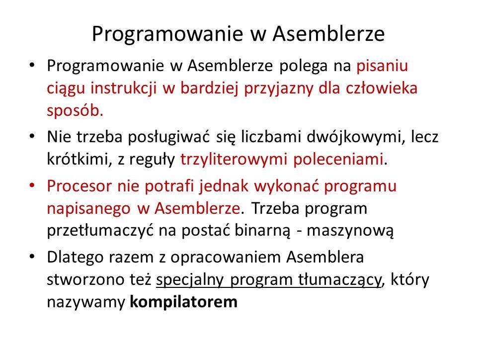 Programowanie w Asemblerze