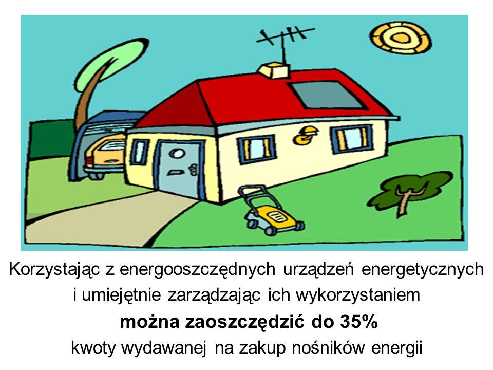 Korzystając z energooszczędnych urządzeń energetycznych