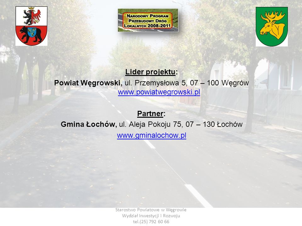 Gmina Łochów, ul. Aleja Pokoju 75, 07 – 130 Łochów