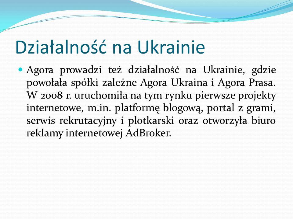 Działalność na Ukrainie