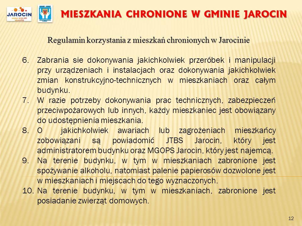 MIESZKANIA CHRONIONE W GMINIE JAROCIN
