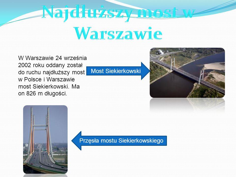 Najdłuższy most w Warszawie