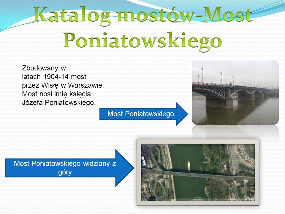 Katalog mostów-Most Poniatowskiego