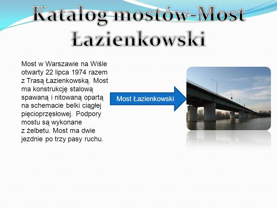 Katalog mostów-Most Łazienkowski