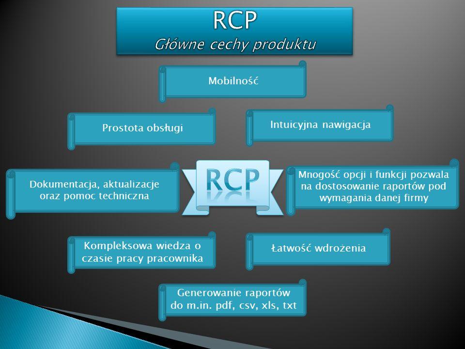 RCP Główne cechy produktu