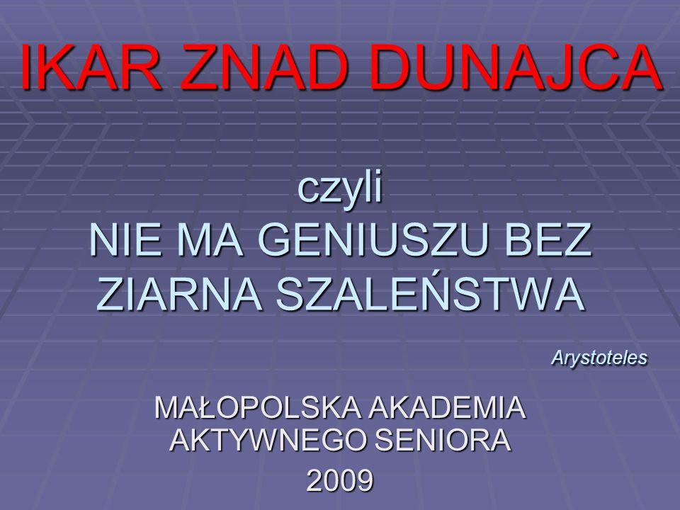 MAŁOPOLSKA AKADEMIA AKTYWNEGO SENIORA 2009