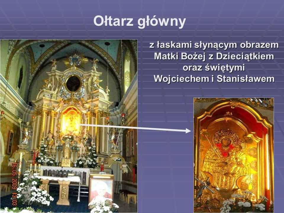 Ołtarz główny z łaskami słynącym obrazem Matki Bożej z Dzieciątkiem