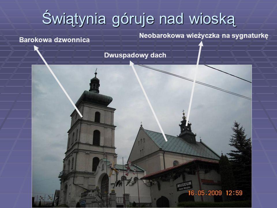 Świątynia góruje nad wioską