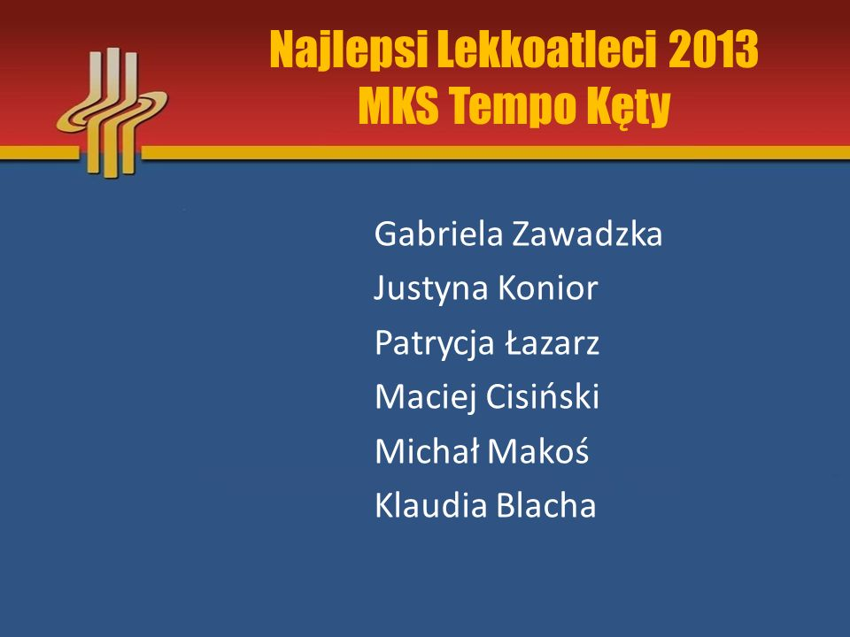 Najlepsi Lekkoatleci 2013 MKS Tempo Kęty