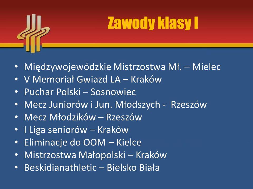 Zawody klasy I Międzywojewódzkie Mistrzostwa Mł. – Mielec