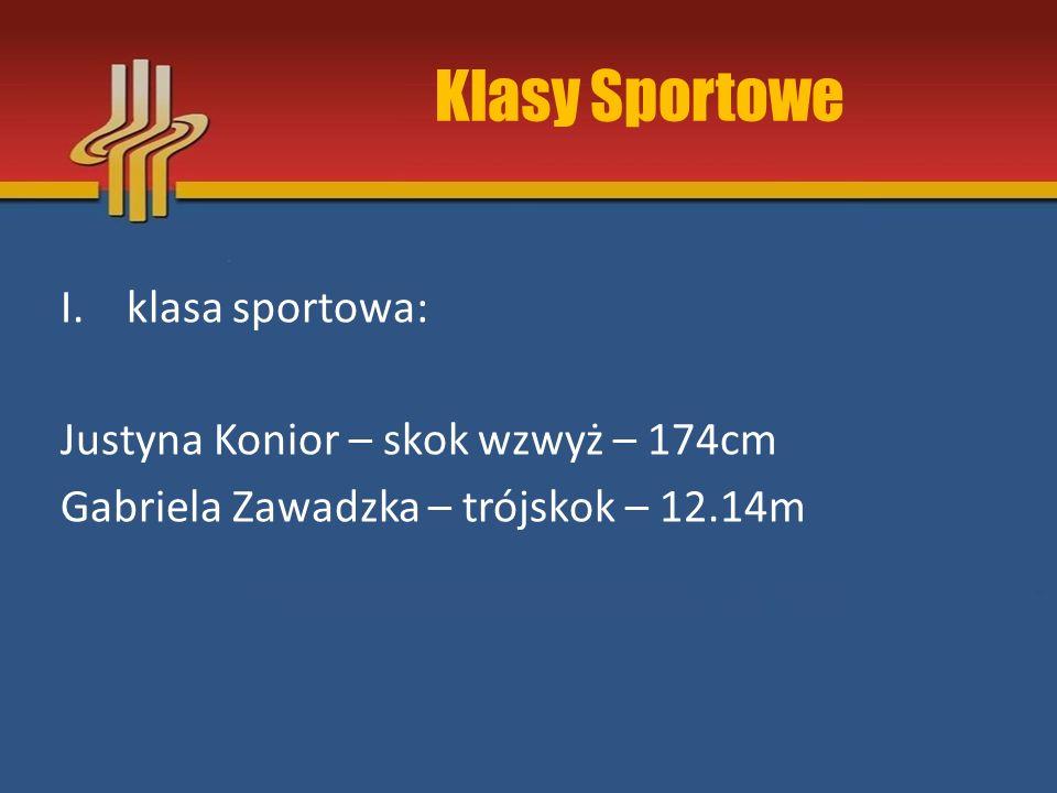 Klasy Sportowe klasa sportowa: Justyna Konior – skok wzwyż – 174cm
