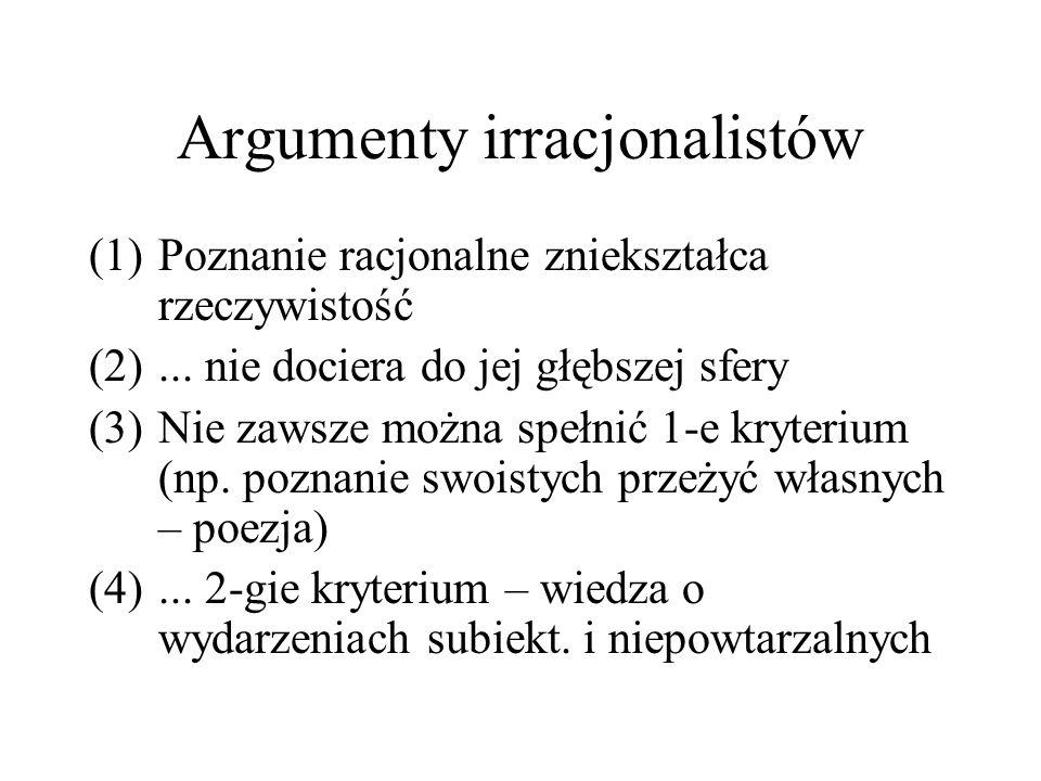 Argumenty irracjonalistów
