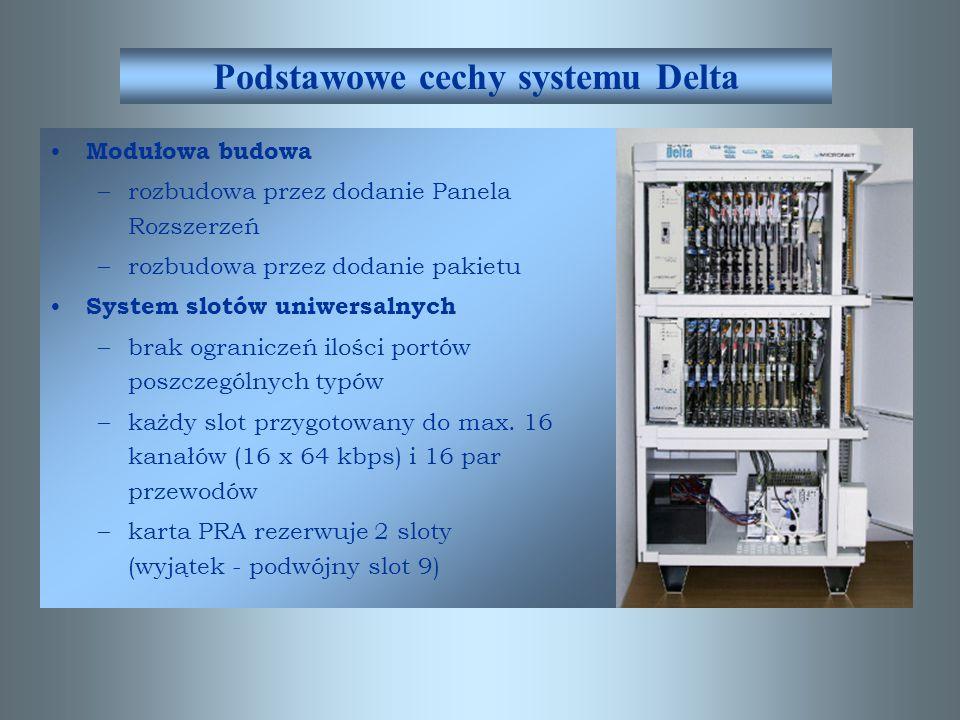 Podstawowe cechy systemu Delta