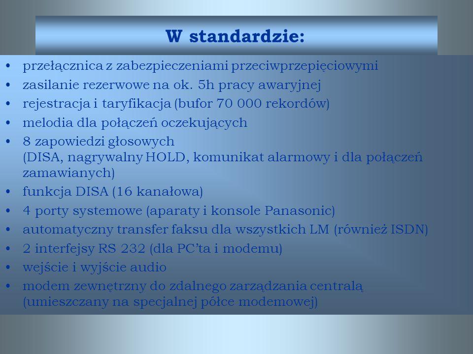 W standardzie: przełącznica z zabezpieczeniami przeciwprzepięciowymi