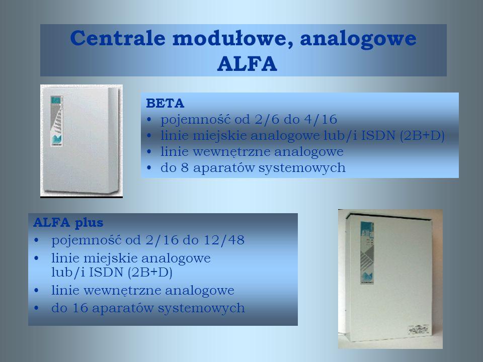 Centrale modułowe, analogowe ALFA