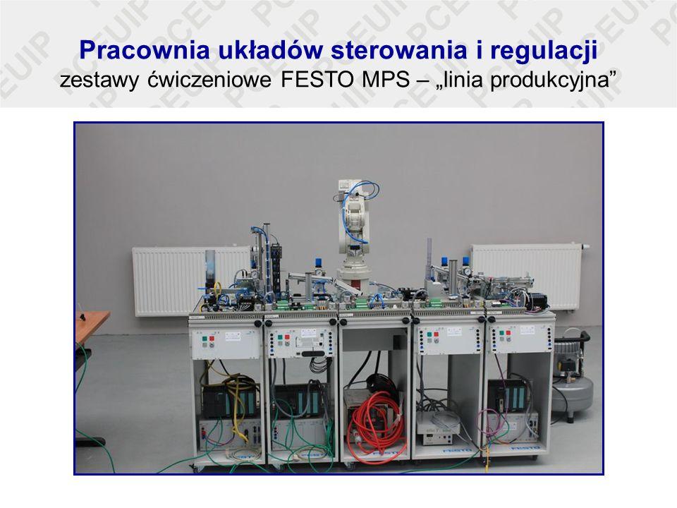 """Pracownia układów sterowania i regulacji zestawy ćwiczeniowe FESTO MPS – """"linia produkcyjna"""