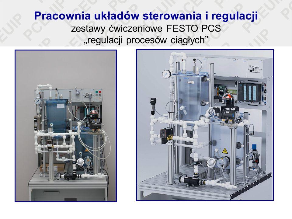 """Pracownia układów sterowania i regulacji zestawy ćwiczeniowe FESTO PCS """"regulacji procesów ciągłych"""