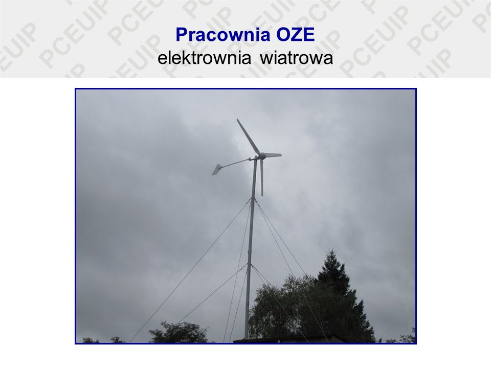 Pracownia OZE elektrownia wiatrowa
