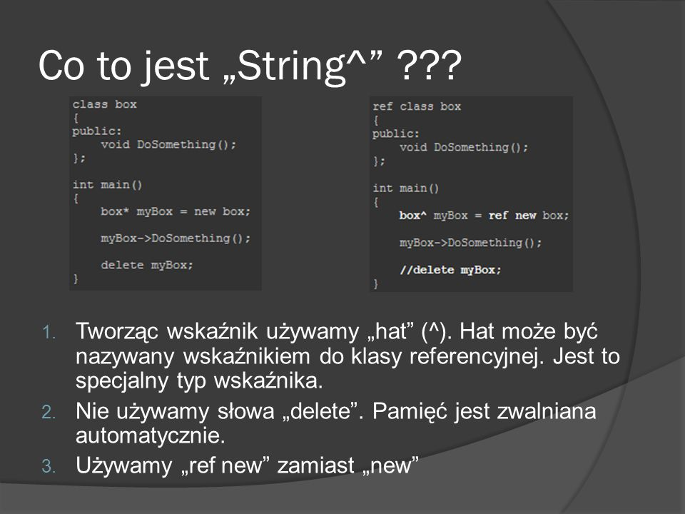 "Co to jest ""String^"