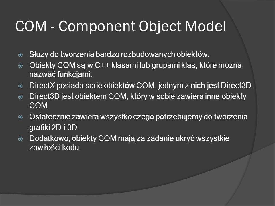 COM - Component Object Model
