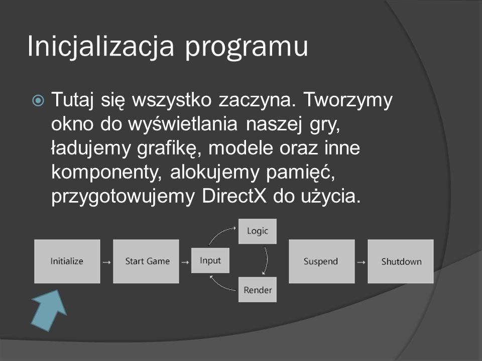 Inicjalizacja programu