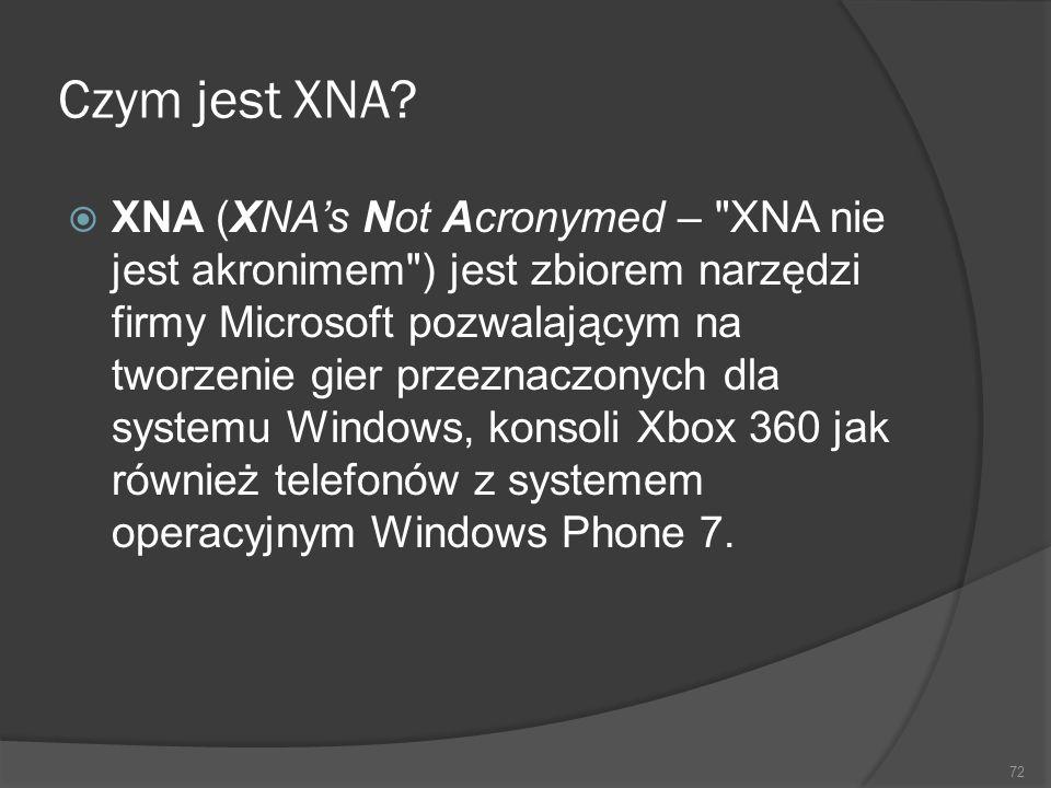 Czym jest XNA