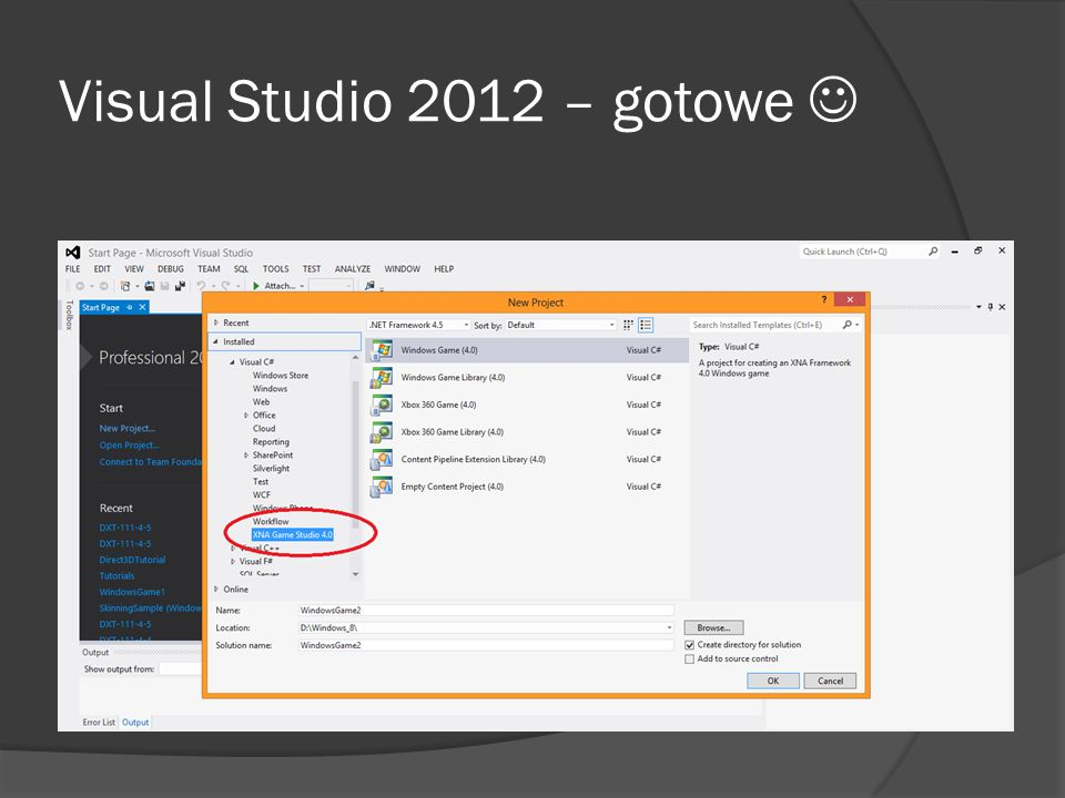 Visual Studio 2012 – gotowe 