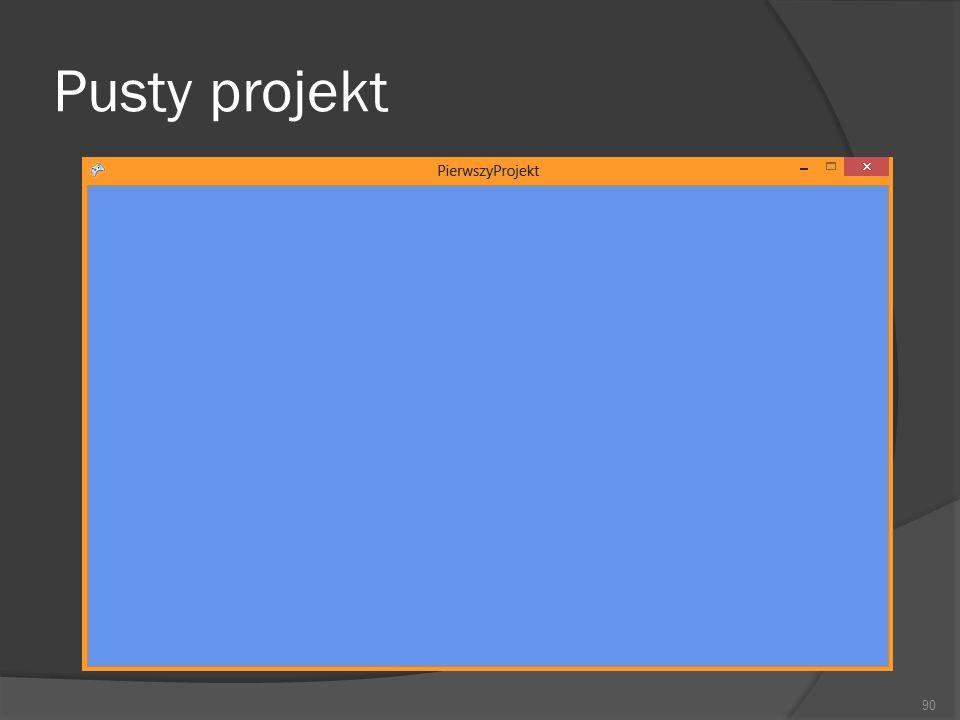 Pusty projekt