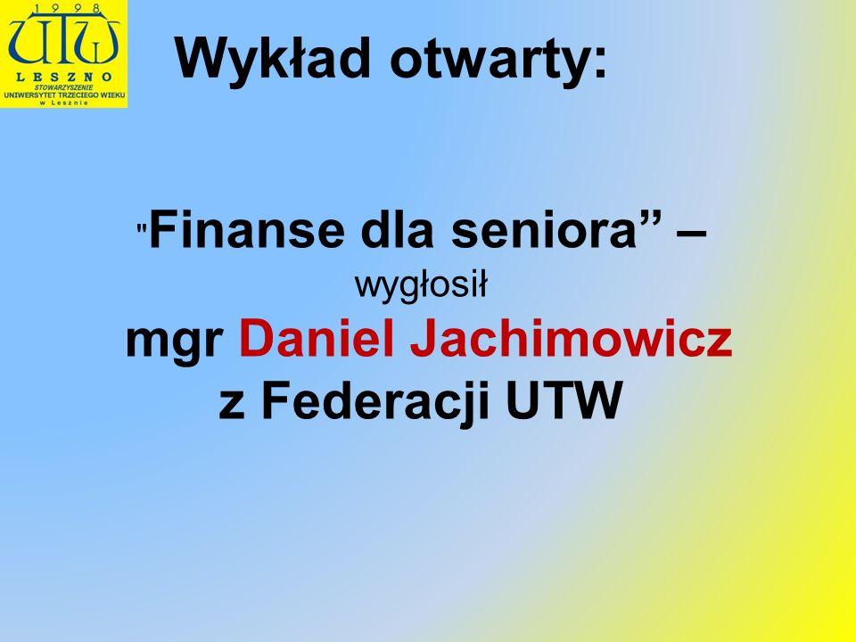 mgr Daniel Jachimowicz