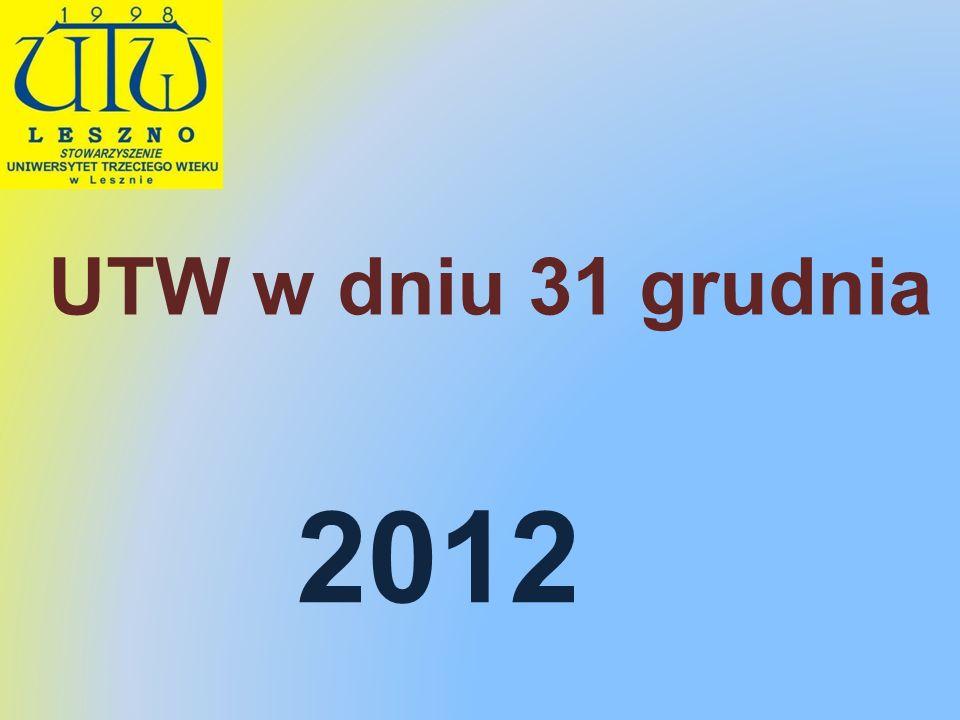 UTW w dniu 31 grudnia 2012