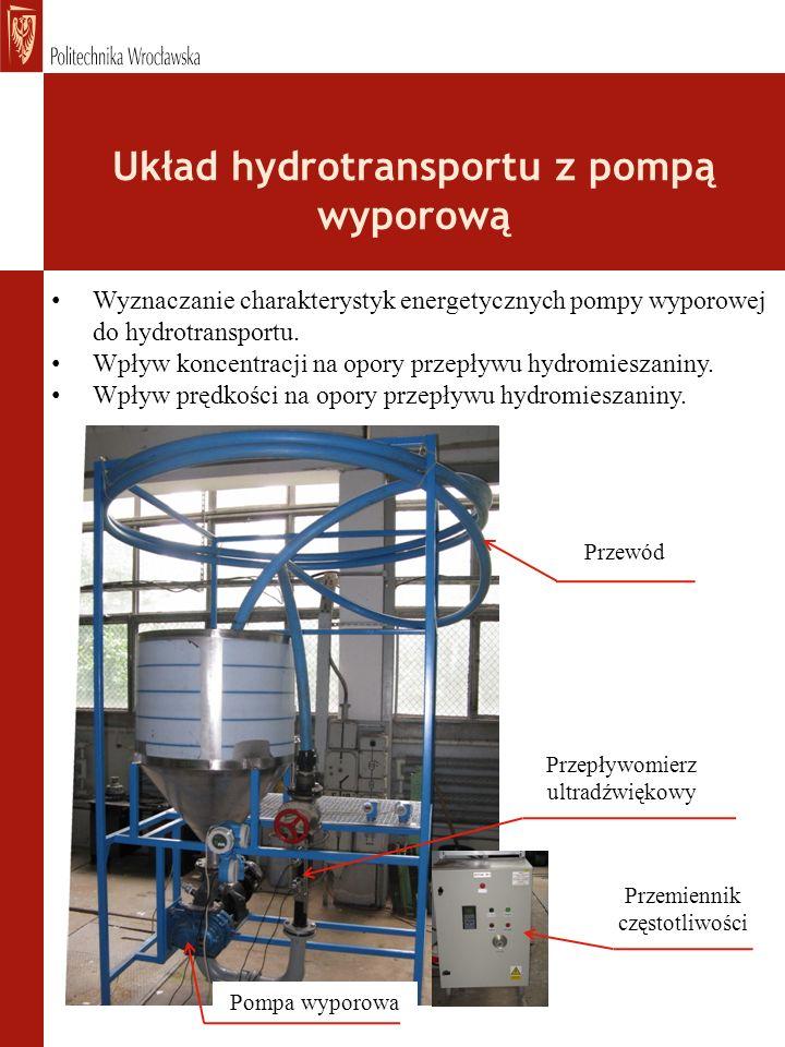 Układ hydrotransportu z pompą wyporową