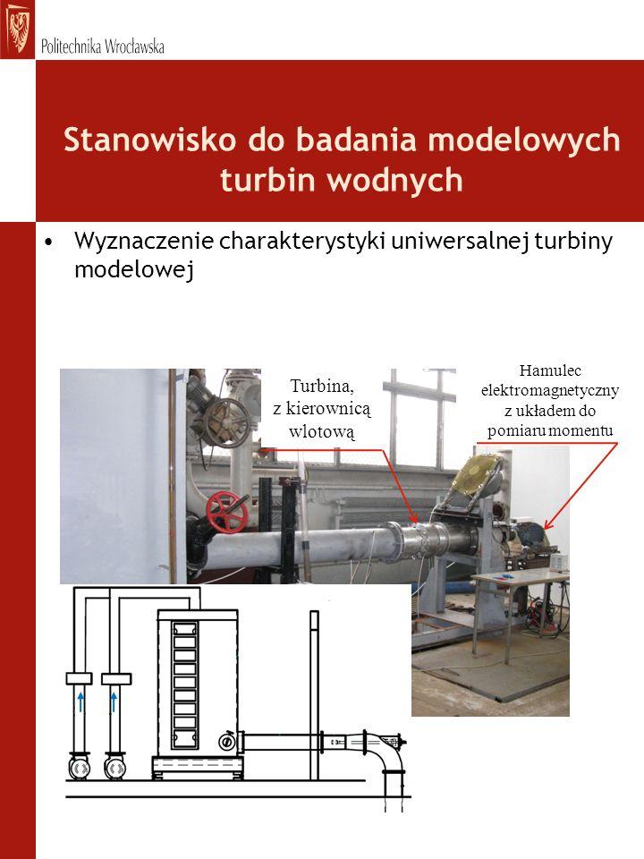 Stanowisko do badania modelowych turbin wodnych
