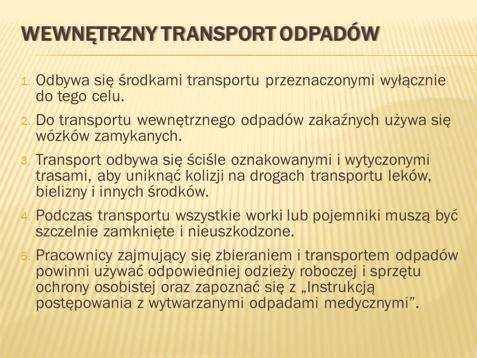 WEWNĘTRZNY TRANSPORT ODPADÓW