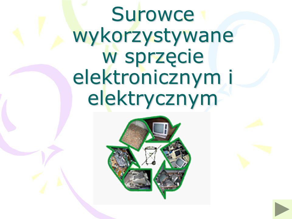 Surowce wykorzystywane w sprzęcie elektronicznym i elektrycznym